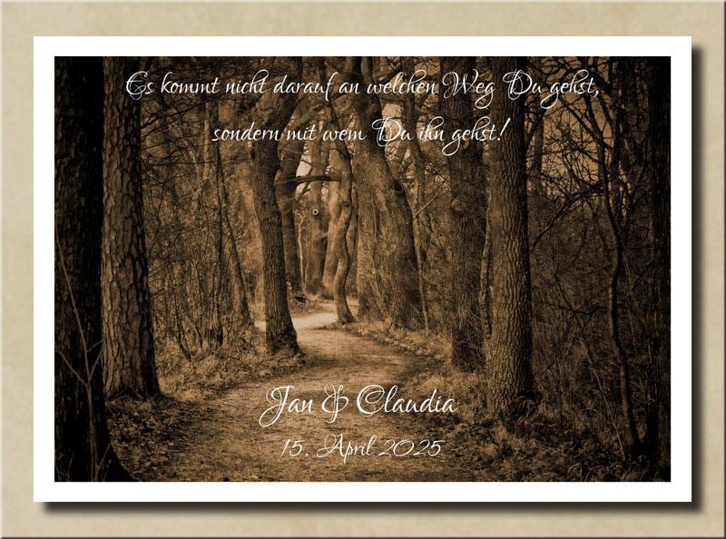 Waldweg der Liebe