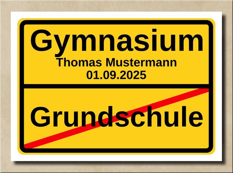 Ortstafel Grundschule Gymnasium