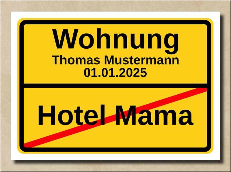 Ortstafel Hotel Mama Wohnung