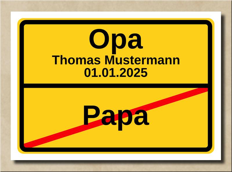 Ortstafel Papa Opa