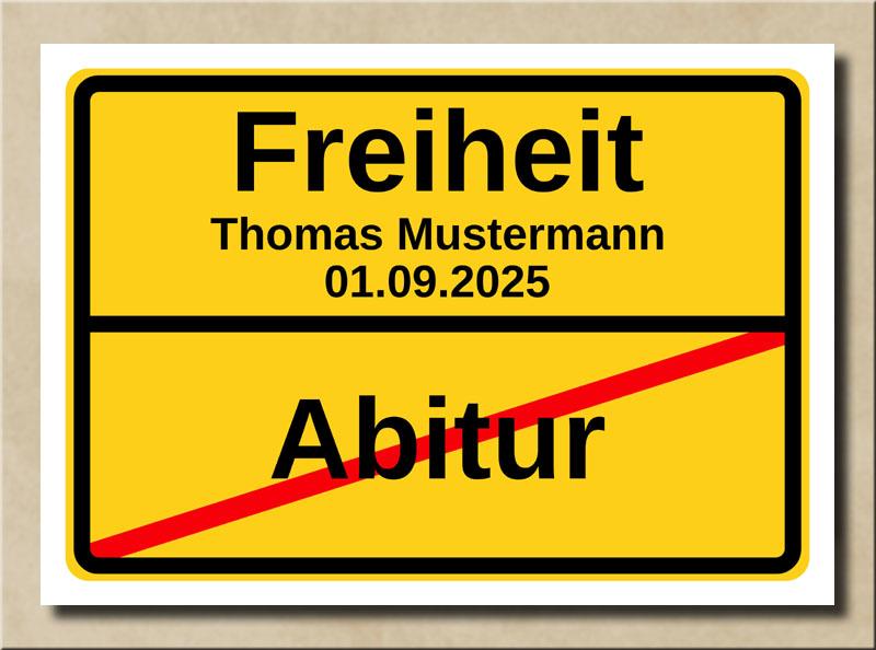 Ortstafel Abitur Freiheit