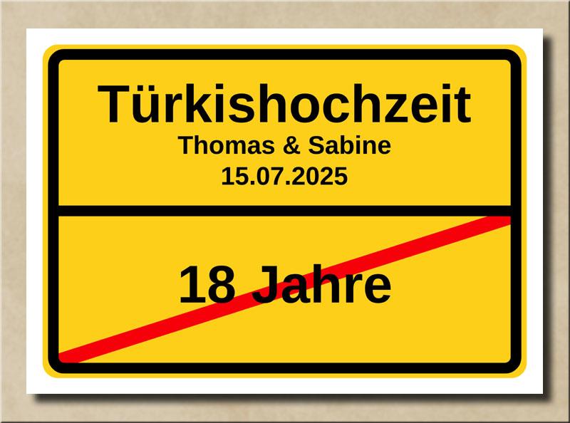 Ortsschild Türkishochzeit