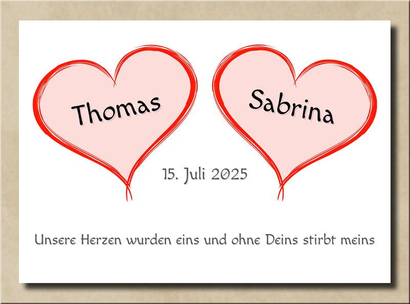 Zwei Herzen und zwei Partner